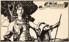 Sorcery by Howard Pyle 1903, possibly depicting Morgan La Fey