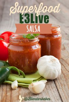 Superfood E3Live Salsa via @BlenderBabes | Boost your metabolism, fight inflammation, and add much needed trace minerals to your diet with this afternoon snack, way better than your go-to nibble or pick me up!