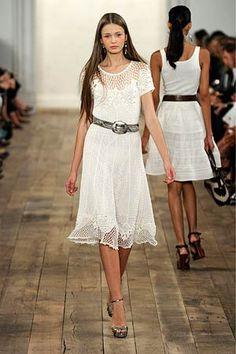 Ralph Lauren -  Spring 2011 #crochet #dress
