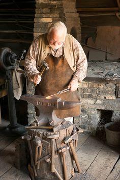 Blacksmith at Old World Wisconsin - Loyd Heath Photograpy