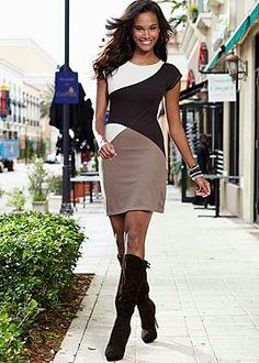 Block pattern dress