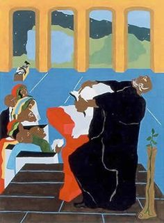 Genesis 4 - by Jacob Lawrence http://rogallery.com/Lawrence_Jacob/lawrencej-genesis-4.htm#.T_tXigitsvI.pinterest