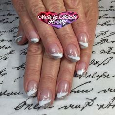 Gel Nail designs:  Gelish glitter french manicure