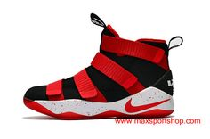 Nike LeBron Soldier XI Black Dots Red White Men s Basketball Shoes  7600