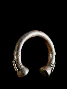 Africa | A bronze 'Currency' Bracelet from the  Minchika peoples of Nigeria | ca. 1950s.