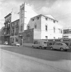 1967 girona Façana de l'antiga seu del diari Los Sitios, posteriorment Diari de Girona, a la carretera Barcelona, 29
