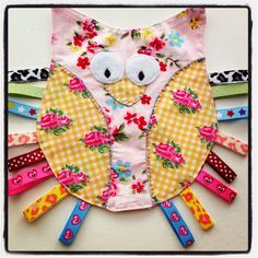 Baby Owl taggy comforter with crinkle by TwinkleTwinkleBabies, £8.50
