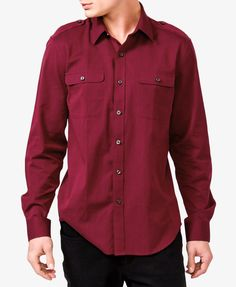 Need a nice shirt for VDay? We love this deep red one.