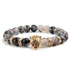 AAA 10 mm NATURAL AFRICAN Roar naturel tiger/'s Eye Round Beads Bracelet