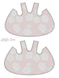 Paso 1 - Criss Cross vestido del delantal con Bloomers - patrón de costura tamaños libres de 0-3m - Melly Sews
