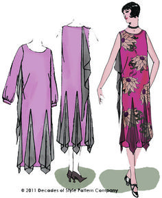 Hazel's Frock, Reproduction 1920s Sewing Pattern    Decades of Style #2003