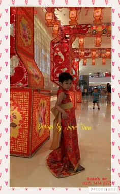 Cheongsam Party Gown for Girl, Design by Anne Tam