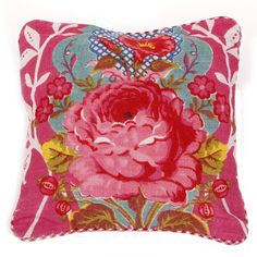 Shabby Chic Cushion - Pink
