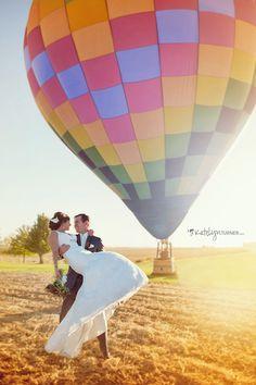 Hot Air Balloon Wedding Photo