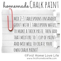 simple way to make your own chalk paint