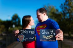 I came up with this idea for my fiance and I! He loves comic books and superhero…