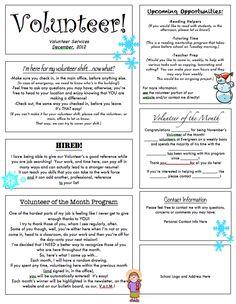 Example of newsletter templates cvlettercsatco contract templates word - CSAT Pta School, School Fundraisers, School Items, School Life, School Counseling, School Stuff, Newsletter Template Free, Newsletter Ideas, Parent Newsletter