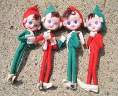 Set of 4 Vintage Knee Huggers Elves Pixies by RSWVintage on Etsy, $28.00