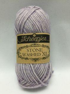 Sheepjes Stone Washed XL, Lilac Quartz, 858, Lavendar yarn, light purple, Cotton yarn by GoodFiberYarns on Etsy https://www.etsy.com/listing/262360486/sheepjes-stone-washed-xl-lilac-quartz