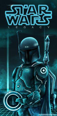 Boba Fett -Star Wars Legacy  by Fluorescentteddy #TRON