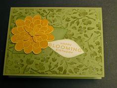 Stampin' Kat: Monochromatic Spring Flowers