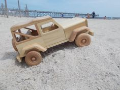 wooden jeep free shipping on 2nd item by toymakerofsouthport