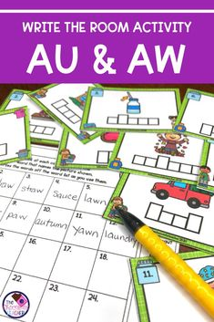 Are you searching for fun AU & AW activities? Write the Room activities are a great way to keep your students engaged and learning! This game like activity will have your 1st or 2nd graders moving around the room and practicing the AU & AW spelling patterns. It's a perfect activity for small groups or literacy centers or rotations! It also makes a nice phonics review activity. Check out this great activity, you won't be disappointed! {first grade, second grade, teaching,diphthongs, digraphs} Phonics Dance, Teaching Phonics, First Grade Phonics, Spelling Patterns, Recording Sheets, Cool Writing, Literacy Centers, Disappointed, Task Cards