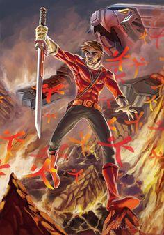 Red Power Rangers Samurai Art by Sopeh.deviantart.com