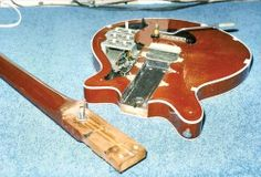 The Red Special during its 1998 restoration.