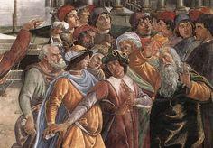 Sandro Botticelli e aiuti - Punizione dei ribelli, dettaglio - 1481-1482 - affresco - Città del Vaticano, Cappella Sistina