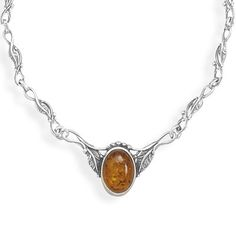 Baltic Amber Necklace on Emma Stine Limited