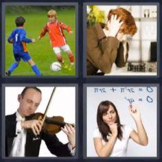 4 fotos 1 palabra futbol violín - Pulsa en la foto para ver la respuesta