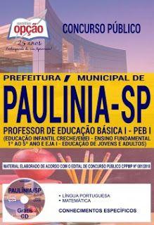 Apostila Prefeitura De Paulinia Sp Pdf Download Concurso