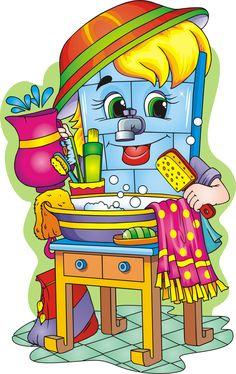 Сообщество иллюстраторов | Иллюстрация мойдодыр. Wall Colors, Colours, Arts And Crafts, Diy Crafts, Autumn Painting, Teaching Kindergarten, Illustrations And Posters, Writing Skills, Colour Images