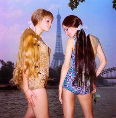 Madeleine Plaz human hair wigs Paris 3 May 1965, via Atomic Samba