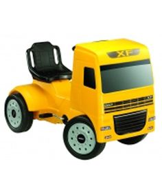 Ferbedo DAF pedal truck-Yellow A Great Ride On Replica DAF FX Lorry For Kids between 3 and 6 Years Old - Pedal Powered - In Yellow This yellow DAF FX pedal powered lorry has a high backed adjustable seat and rubberised wheels. Suit http://www.comparestoreprices.co.uk/kids-bikes-