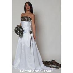 Camo Bridal and Wedding Dresses Camouflage Prom Wedding Homecoming Formals White Camo Wedding Dress, Camouflage Wedding Dresses, Camo Dress, A Line Bridal Gowns, Wedding Gowns, Wedding Album, Wedding Ceremony, Wedding Cakes, Reception