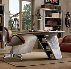Home Furniture with Aviator Wing Desk Picture