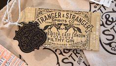 Packaging by Stranger & Stranger - Design daily news Beverage Packaging, Brand Packaging, Packaging Design, Typography Love, Vintage Typography, Stranger And Stranger, Writing Styles, Love Design, Stationery Design