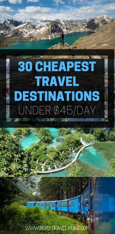 The Cheapest Travel Destinations In the World in 2020 - If you are planning a trip on a tight budget, here are 30 affordable destinations around the world, - Cheap Places To Travel, Cheap Travel, Budget Travel, Europe Budget, Couple Travel, Family Travel, Bora Bora, Tahiti, Solo Travel