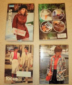 4 VINTAGE Mail Order Catalogues 1970s - 80s like Freemans MADMEN style FASHION