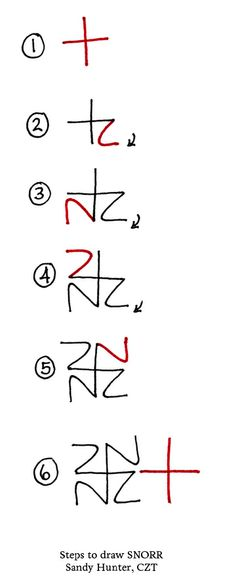 The how-to: Start with a plus sign. Each 'branch' of the plus sign will be the TOP of a Z when you turn your tile:
