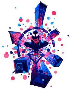 Spider-Man into the spider verse was one of my favorite marvel movies. Spider Art, Spider Gwen, Spider Verse, Marvel Art, Marvel Dc Comics, Marvel Heroes, Avengers Art, Yatogami Noragami, Miles Morales Spiderman