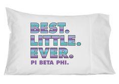 Pi Beta Phi Best Little Ever Pillowcase by GreekGraffitiDorm on Etsy