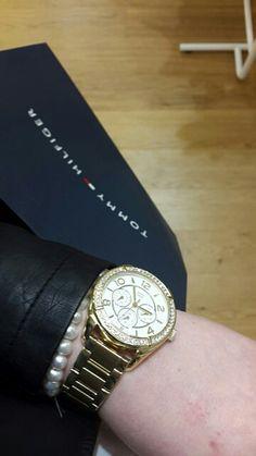 Tommy Hilfiger golden watch