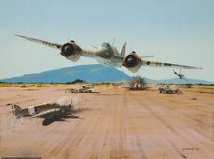 """Duck!"" KB Bristol Beaufighters attack Italian aerodromo."