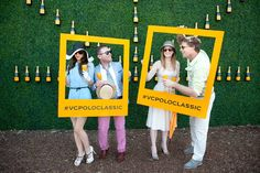 11 Surefire ways to get party guests to use social media at your next event.  For a highly visual—and Instagram-friendly—photo opp, social media prompts served as props against a grassy wall decorated with Veuve b...