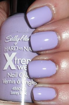 Imperfectly Painted: Sally Hansen Xtreme Wear Lacey Lilac & Comparison
