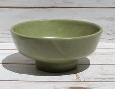 Haeger Bowl Planter Bulb Bowl Vintage Pottery Avocado Green Speckleware Mid Century Ceramic Pedestal Planter by WhimsyChicEmporium on Etsy