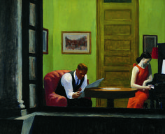 Hopper painted Room in New York (oil on canvas) in 1932. It was around the same time his wife, Josephine, started writing in her diary about her frustrations with her husband becoming a famous artist.